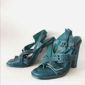 Balenciaga high-heeled leather sandals
